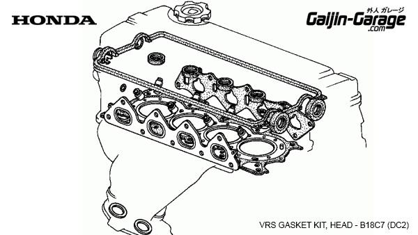 Genuine HONDA ROCKER CAM cover gasket set B-Series B16A B18C EG6 EK4 EK9 DC2